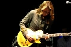 Susan playing Duane's 57 Gold Top