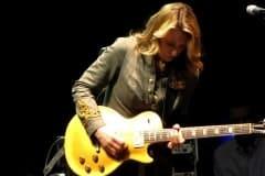 Susan playing Duane's 57 Gold Top