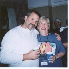 Dino and Barb at the Left Coast Party