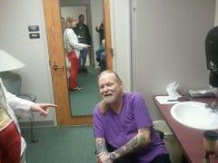 Gregg's dressing room