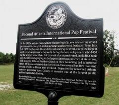 Atlanta Pop Festival Marker