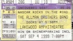9/4/99 Atlanta Ticket