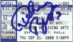 Tix signed by Dickey