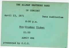 April 23, 1971 Concert Ticket