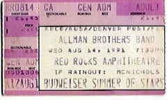 ABB Ticket-Red Rocks 8-14-91