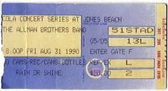 ABB ticket-Jones Beach 8-31-90