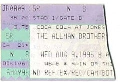 Ticket-Jones Beach 8-9-95