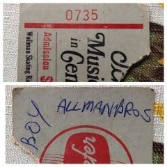 7/21/71 Ticket Stub